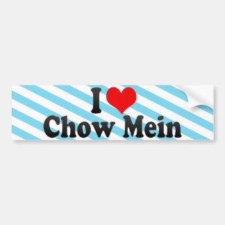 I Love Chow Mein Car Bumper Sticker