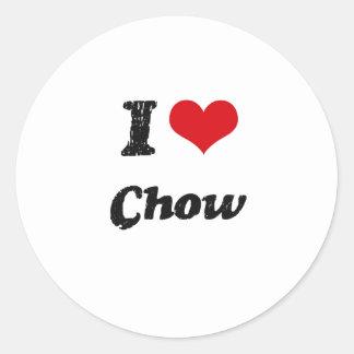 I love Chow Round Stickers