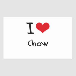 I love Chow Rectangle Stickers