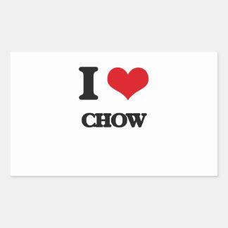 I love Chow Rectangular Stickers