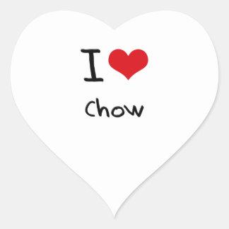 I love Chow Heart Sticker