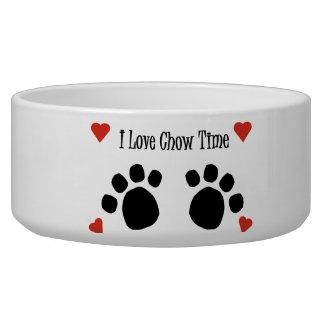 I Love Chow Time Dog Pet Bowl