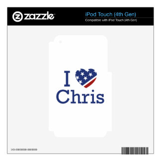 I Love Chris iPod Touch 4G Decal
