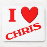 I Love Chris Mouse Pad