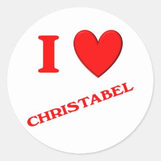 I Love Christabel Classic Round Sticker