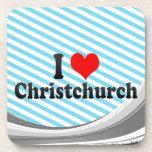 I Love Christchurch, New Zealand Drink Coasters