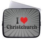 I Love Christchurch, New Zealand Laptop Computer Sleeves