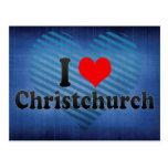 I Love Christchurch, New Zealand Postcard