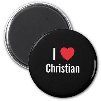 I love Christian 2 Inch Round Magnet