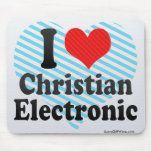 I Love Christian+Electronic Mouse Pad