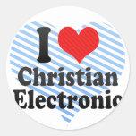 I Love Christian+Electronic Sticker