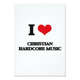 I Love CHRISTIAN HARDCORE MUSIC Announcement Card