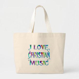 I Love Christian Large Tote Bag