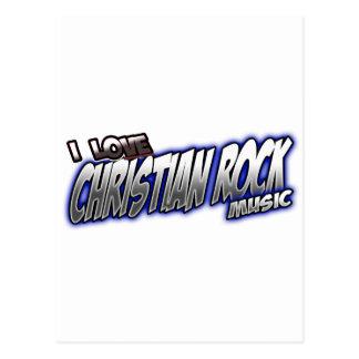 I Love CHRISTIAN ROCK music Postcard