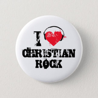 I love christian rock pinback button