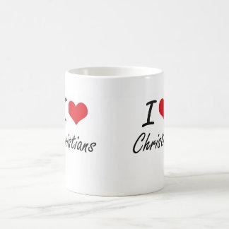 I love Christians Artistic Design Classic White Coffee Mug