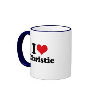 I LOVE CHRISTIE MUG
