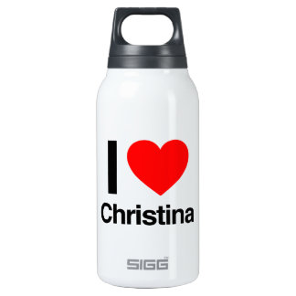 i love christina 10 oz insulated SIGG thermos water bottle