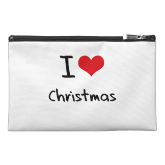 I love Christmas Travel Accessory Bags