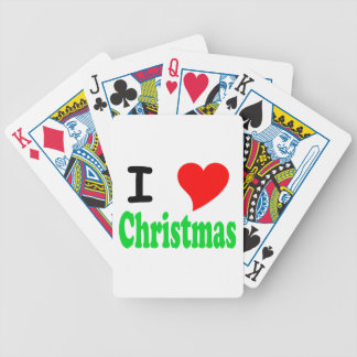 I Love Christmas Bicycle Playing Cards