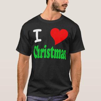 I Love Christmas Black T-Shirt