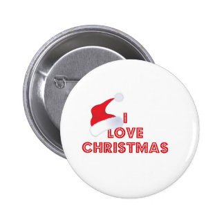 I Love Christmas Pinback Button