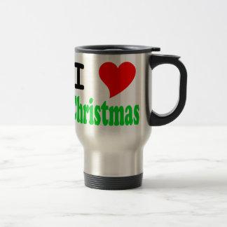 I Love Christmas Car Mug