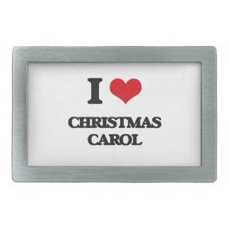 I Love CHRISTMAS CAROL Rectangular Belt Buckles