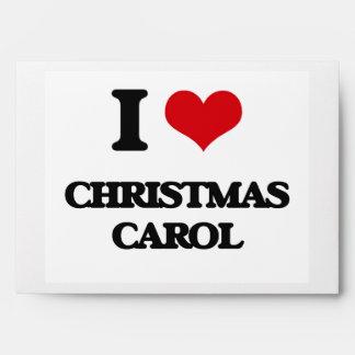 I Love CHRISTMAS CAROL Envelope