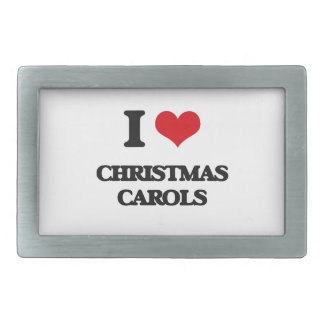 I Love CHRISTMAS CAROLS Rectangular Belt Buckles
