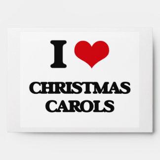 I Love CHRISTMAS CAROLS Envelopes