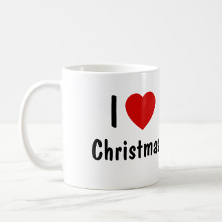 I Love Christmas Coffee Mug
