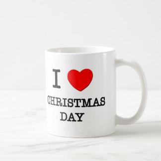 I Love Christmas Day Coffee Mugs