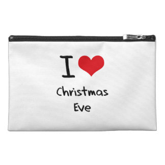 I love Christmas Eve Travel Accessory Bag