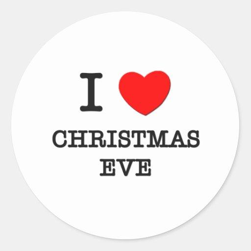 I Love Christmas Eve Stickers
