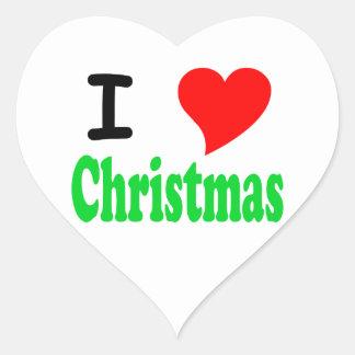 I Love Christmas Heart Sticker
