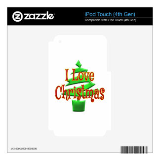 I Love Christmas iPod Touch 4G Decals