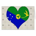 I Love Christmas Island Card