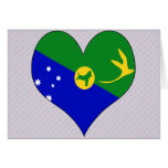 I Love Christmas Island Greeting Card