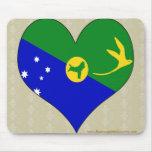 I Love Christmas Island Mouse Pad