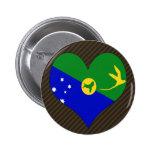 I Love Christmas Island Pins