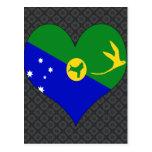 I Love Christmas Island Postcard