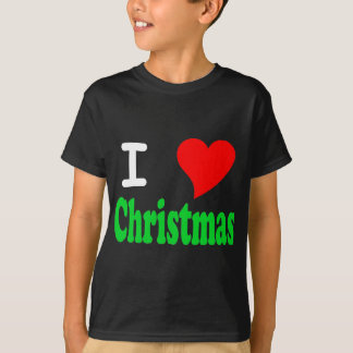 I Love Christmas Kids Dark T-Shirt