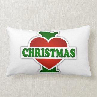 I Love Christmas Lumbar Pillow