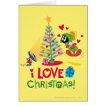 I Love Christmas - MARVIN THE MARTIAN™ Greeting Card