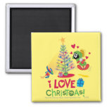 I Love Christmas - MARVIN THE MARTIAN™ 2 Inch Square Magnet