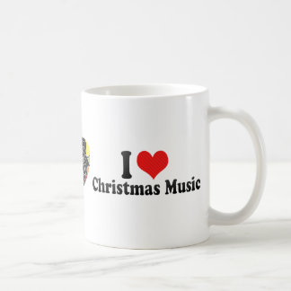 I Love Christmas Music Coffee Mug