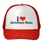 I Love Christmas Music Mesh Hat