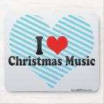 I Love Christmas Music Mouse Pad