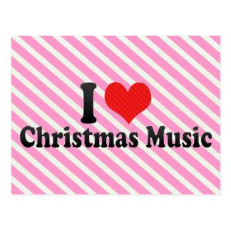 I Love Christmas Music Postcard